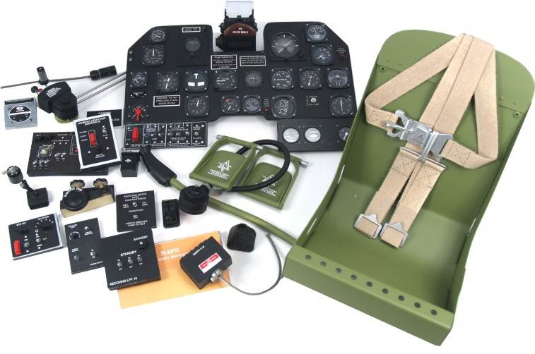 Modell-Zubehörsatz Lasercutsatz für P47 Thunderbolt 1:24 JSC